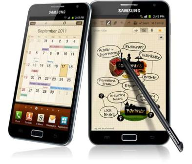 Samsung Galaxy Note filtered upgrade to Android 4.0
