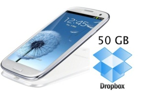Samsung Galaxy S3 will have 50 GB of free space on Dropbox