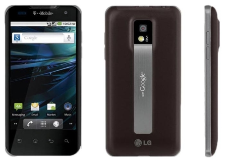 The T-Mobile G2x is a visually appealing option