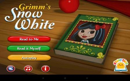 Grimm's Snow White allows you not only to read or hear this classic story, but has a good amount of games and activities