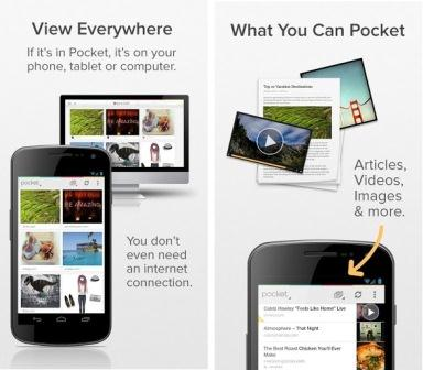 Pocket is one of those tools that you can save for later reading or viewing any content found on the Internet