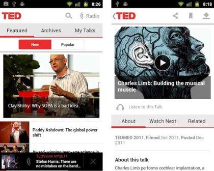 TED is a tool that gives way to access TED centered lectures channel, conferences and classes in technology, business, music and many other subjects