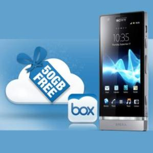Sony xperia users to get 50 GB free space in the Box online storage service