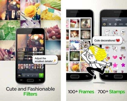 LINE Camera is an application associated with the communication tool LINE