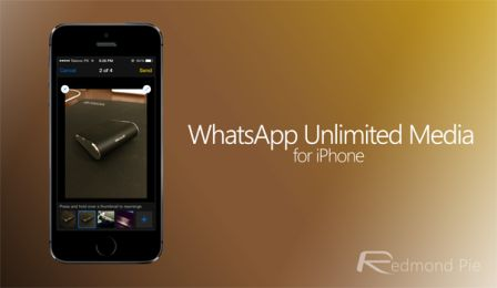 go to Cydia and search for the tweak Whatsapp Unlimited Media to install