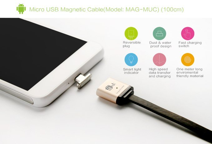MagCable magnetic charging port on all smartphones