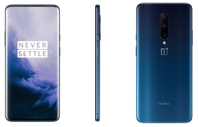 OnePlus 7 shows itself in Nebula Blue and Mirror Gray in new official renderings